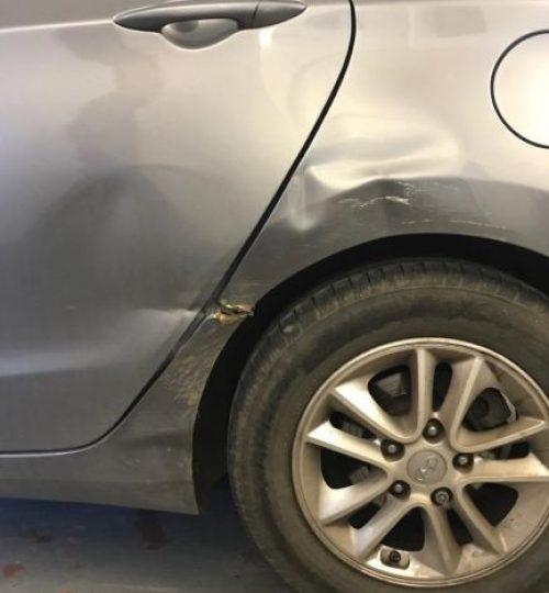 Hyundai bodywork repair before