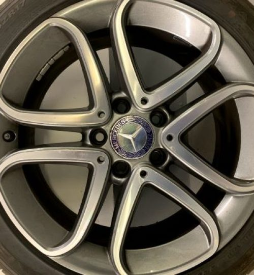 mercedes alloy wheel colour change