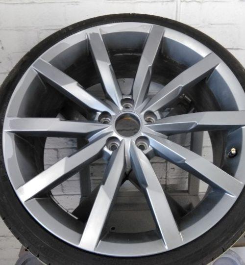 vw antracite alloy wheel repair prepared