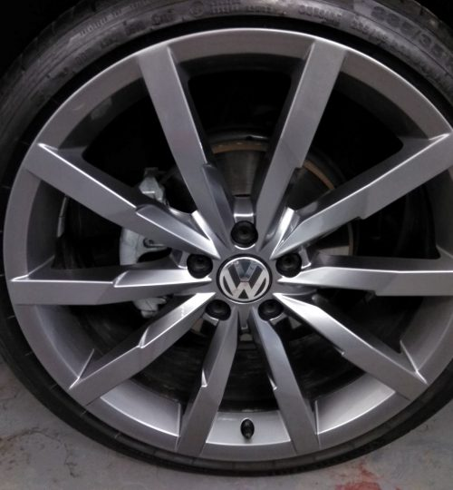 vw antracite painted alloy wheel repair wakefield finished