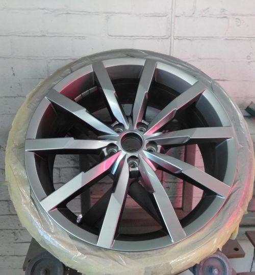 vw antracite painted alloy wheel repair wakefield